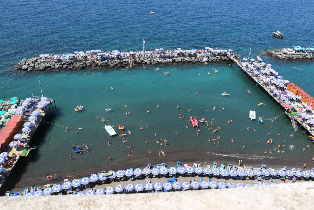 We overlook the amazing swimming areas by the sea