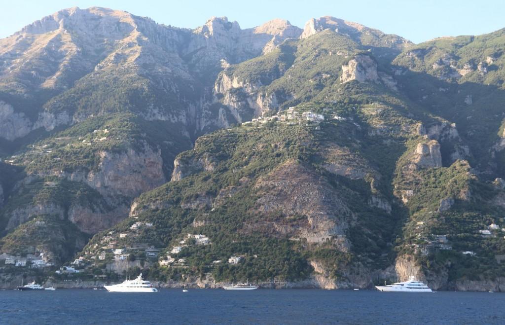 The scenery along the Amalfi coast is spectacular