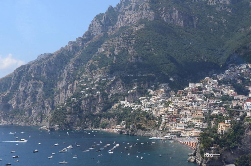 Positano in the distance