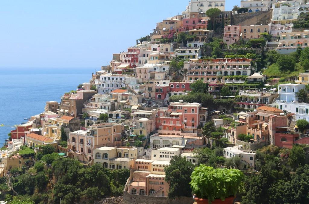 We pass beautiful Positano on our trip to Sorrento