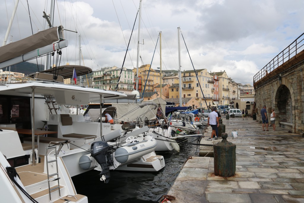 Very overcast conditions in Bastia this morning