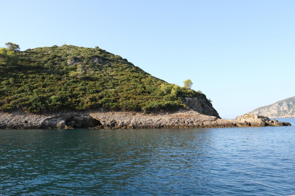 We anchored overnight by L'Isolotto, the small island by Ecole