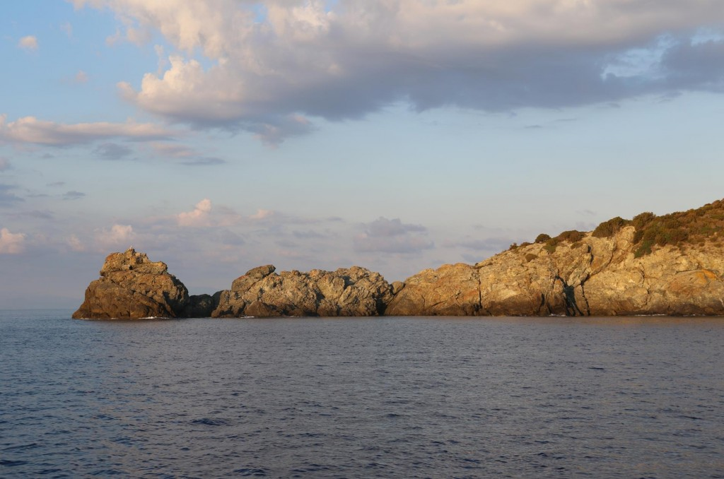 Punta Fetovaia, the entrance to the small gulf on the south east coast of Isola d'Elba