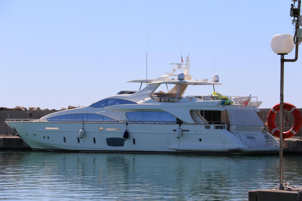 This is one of the many large yachts in the marina at the moment