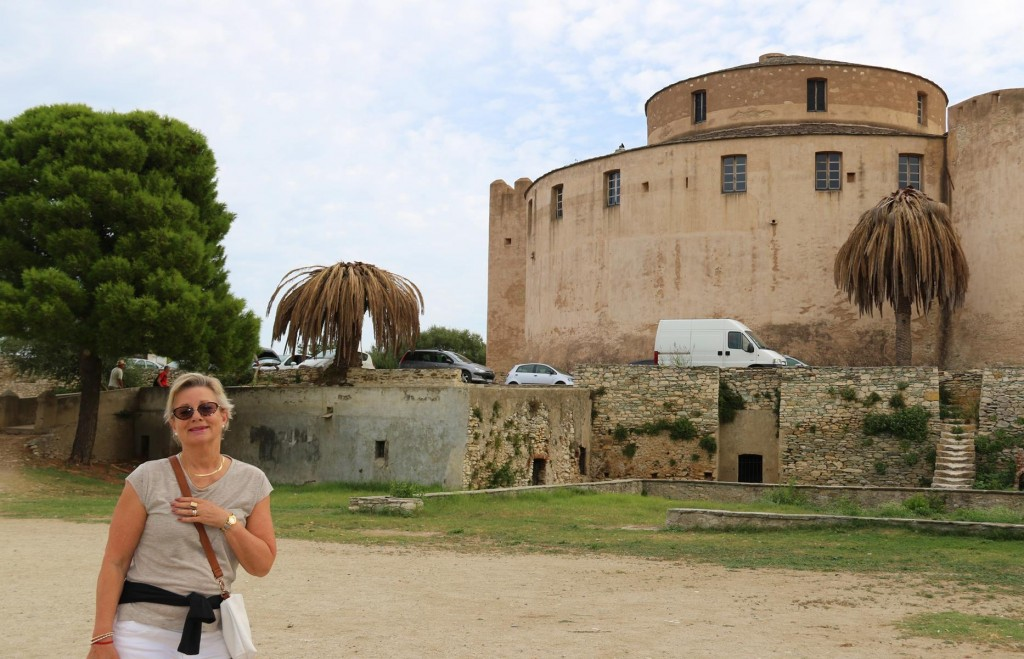 We visit the Citadel of Saint Florent on the hill overlooking the water
