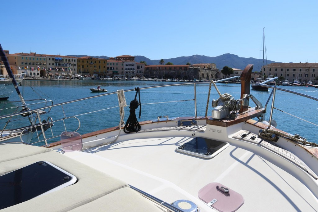 Our lovely position in the old harbour of Portoferraio