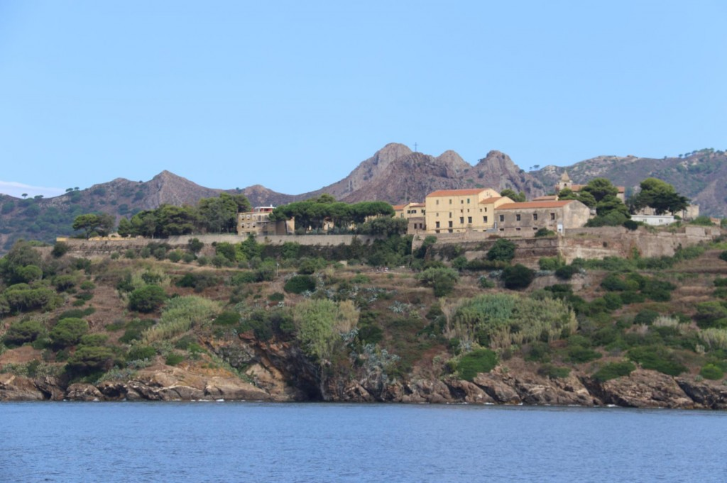 The San Giacomo Fort built by the Spaniards in 1603 stands above Azzurro is now used as prison