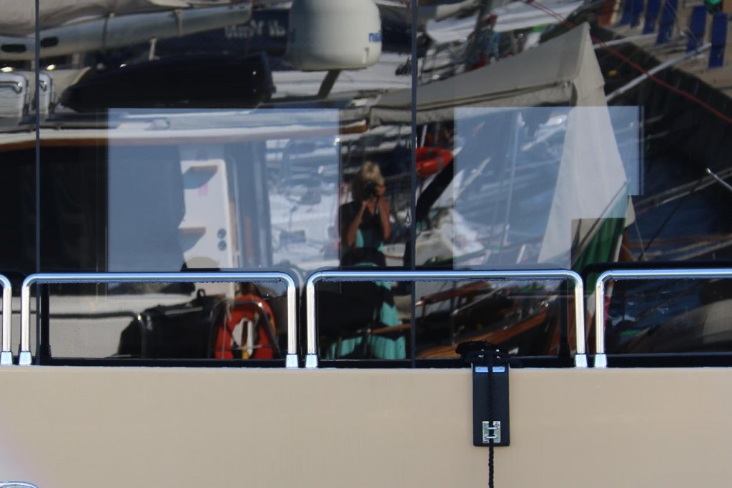 The windows are so clean on the Marina Wonder I can clearly see my reflection taking the photo