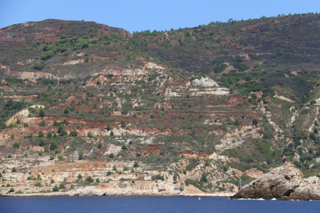 The south eastern area of Elba has had a mining industry in the past