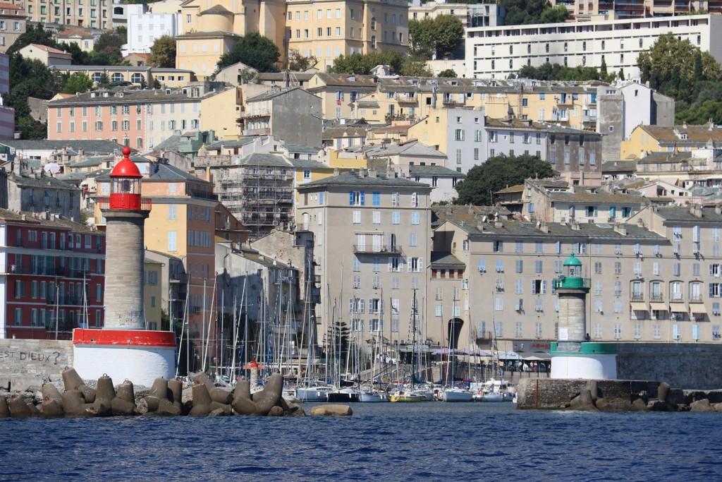 We approach the harbour of Vieux Port in the old part of Bastia where we had reserved a berth for the night
