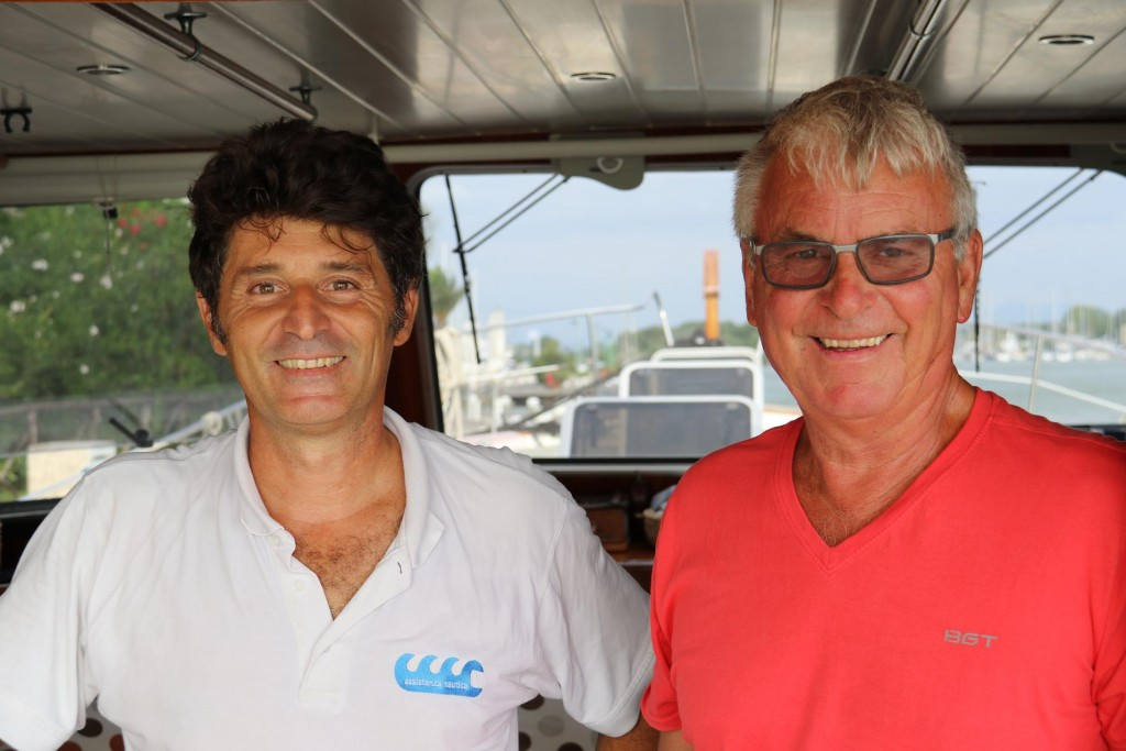 Ric organised Paolo an electrician who professionally  sorted out some electrical issues we still had on the Tangaroa