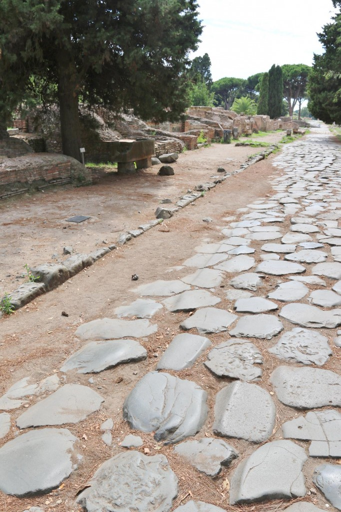 The first thing you notice at the site is the very long cobbled streets