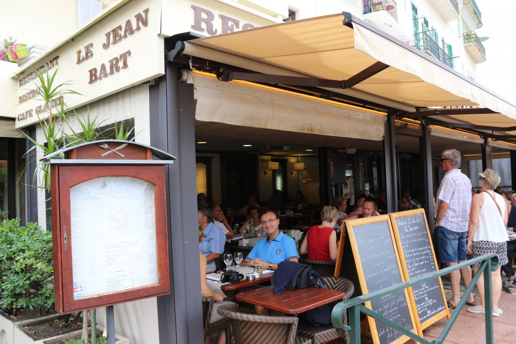 Le Jean Bart situated in the main port looked a nice choice for Ric's Birthday lunch