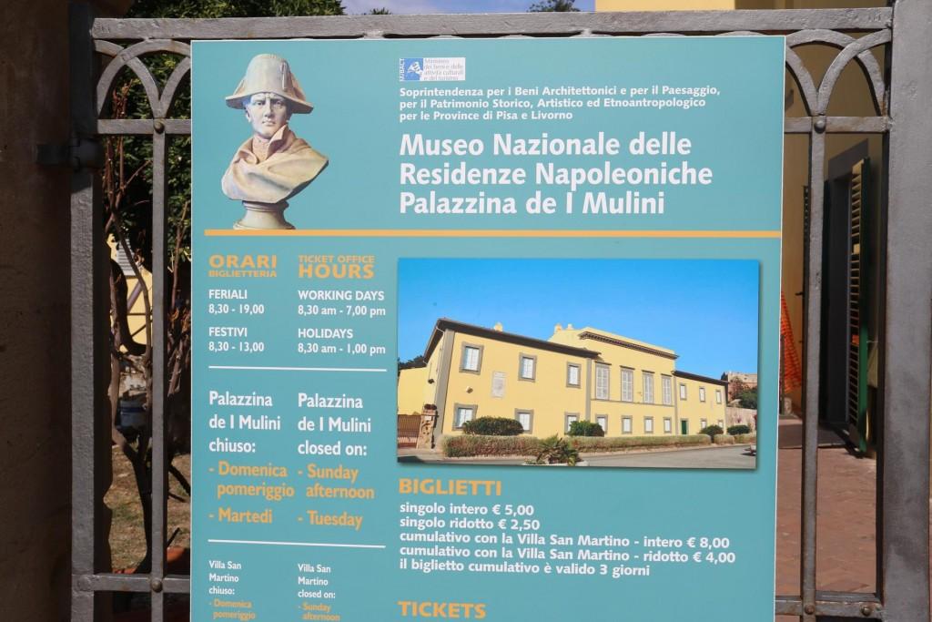 We visit Napolean Bonaparte's resident in Portoferraio