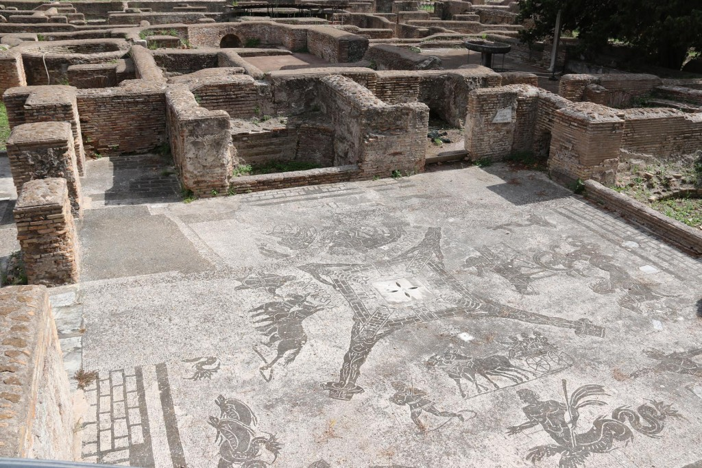 The conditions of the mosaic floors of the ancient buildings are outstanding for their age
