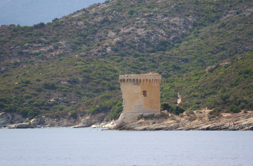 The ruins of the Martello tower on Punta de la Mortella
