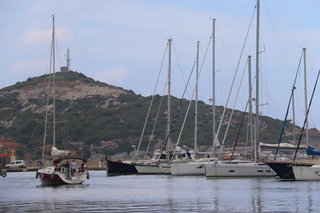 The port is filling up with visiting yachts this afternoon