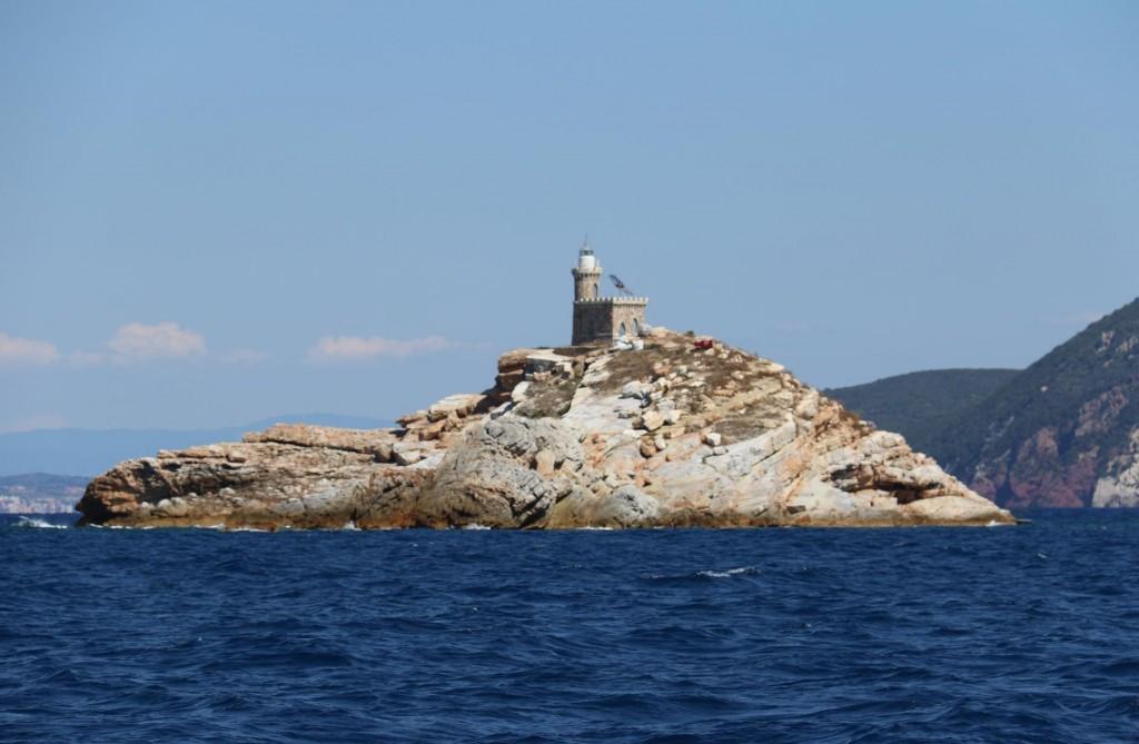 Lo Scoglietto with it's miniature lighthouse