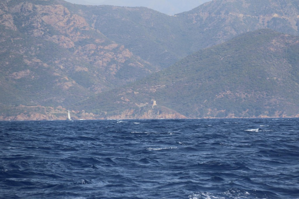 085 We planned to get shelter for the night in Port Girolata however the wind was blowing straight into the big bay