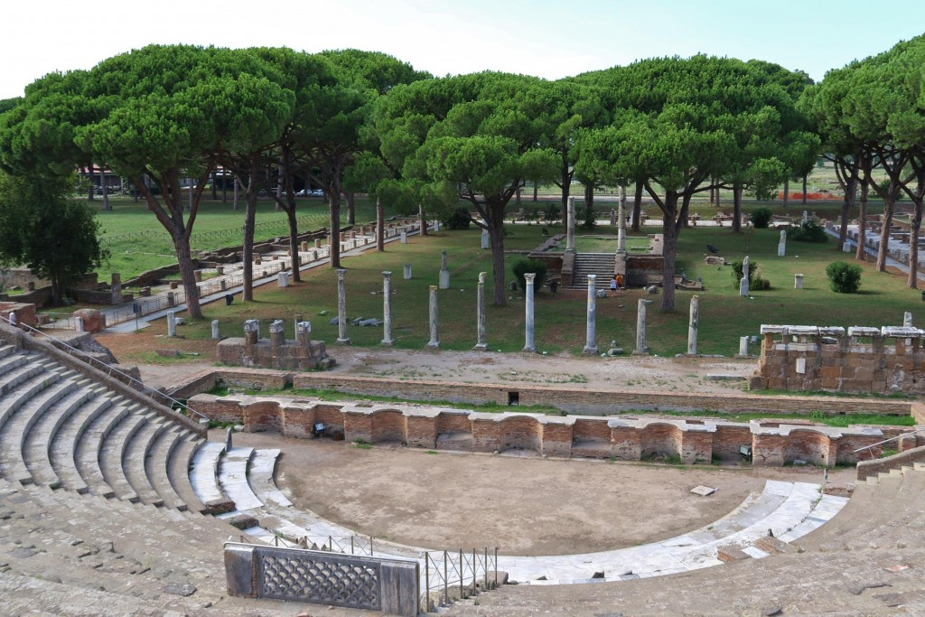The Theatre at Ostia Antica was built at the end of the 1st Century BC