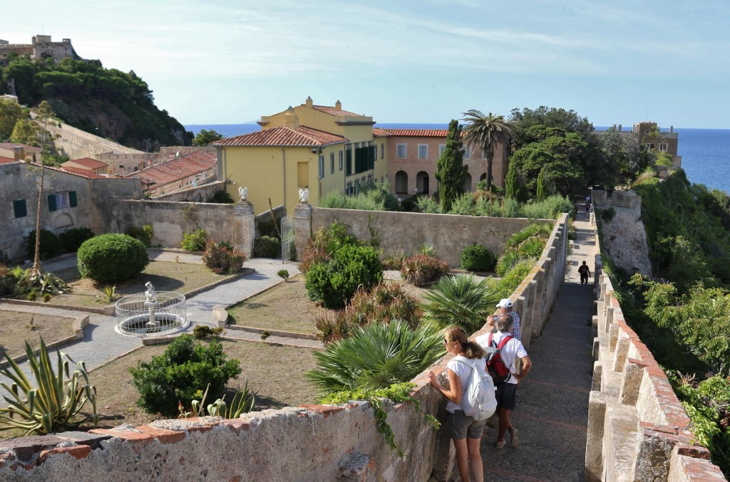 Overlooking the extensive gardens of one of Napolean's exile residences Villa dei Mulini