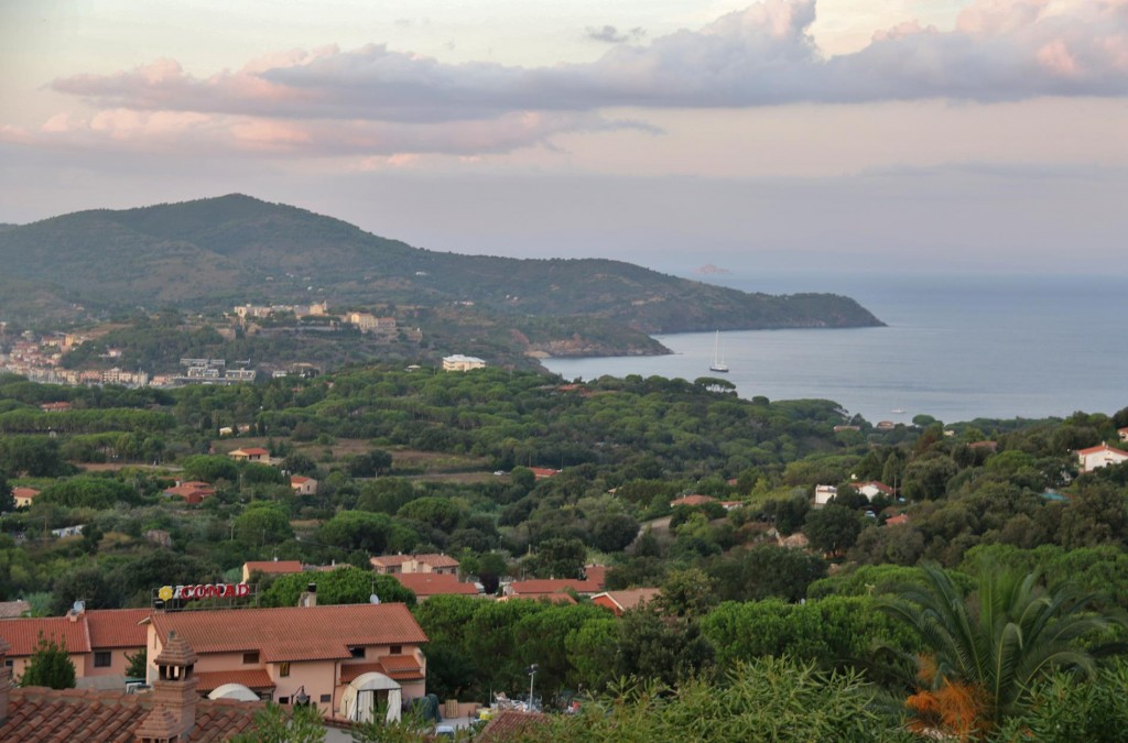 The view looking down towards Azzurro from the old town of Capoliveri