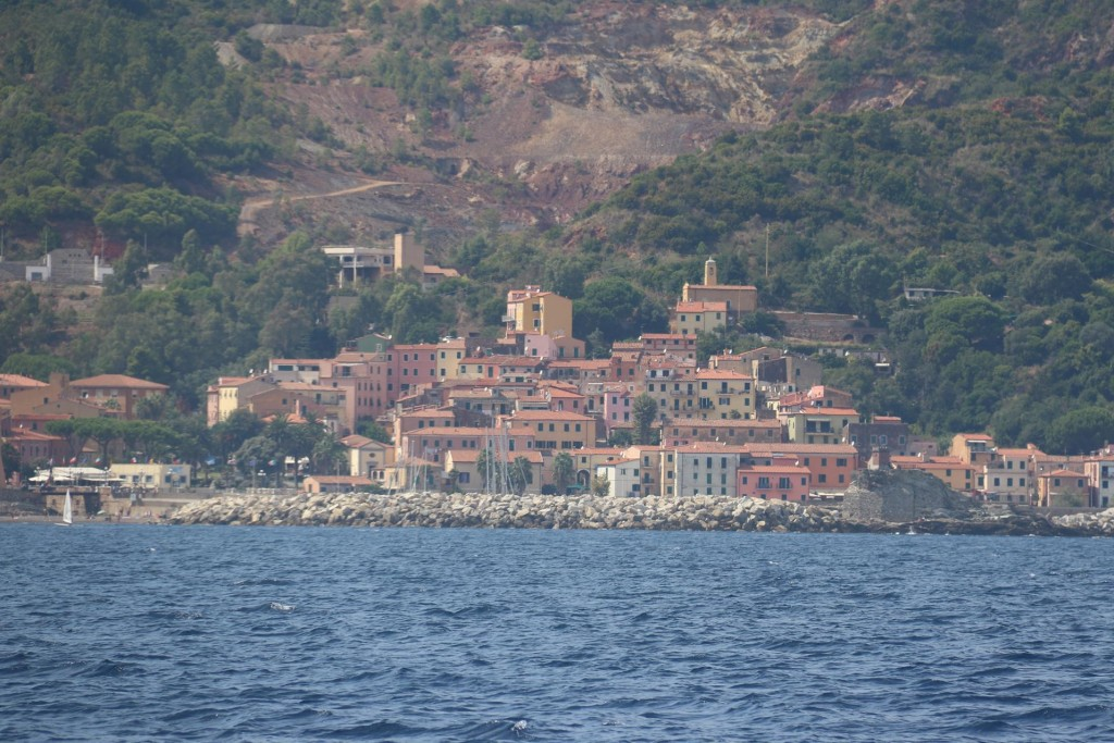 We pass the town of Porto Azzurro which is on the east coast of Elba