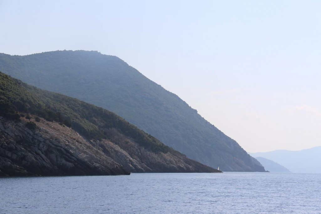 The coastline is quite mountainous in many parts of the island