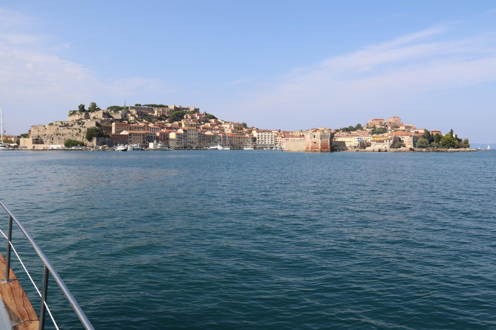 We arrive in Elba's major port of Portoferraio