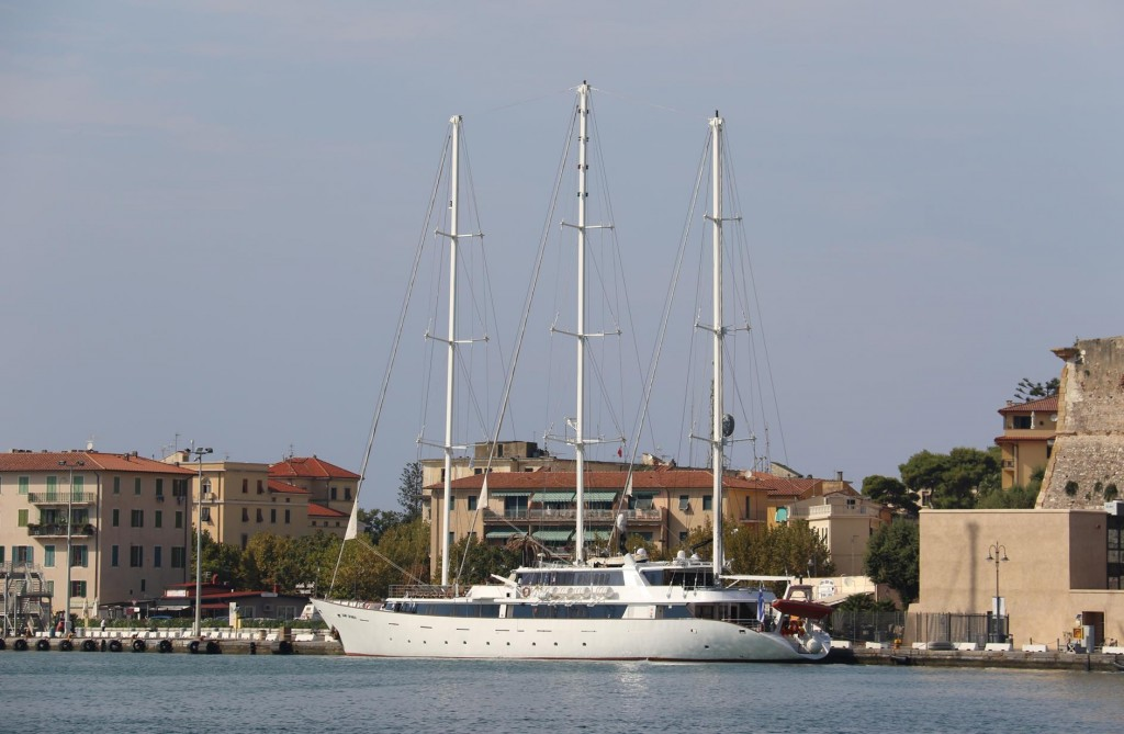 A lovely looking yacht called Panorama is visiting the port today