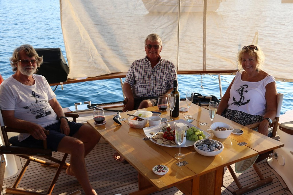 Pete and Kathy from Christchurch, join us for a drink on the Tangaroa