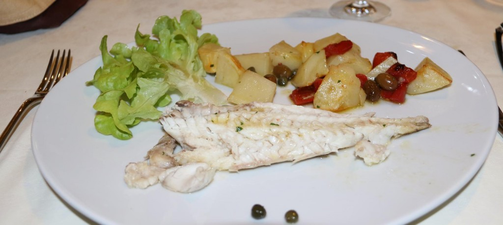 A most enjoyable light main course of beautifully cooked fresh fish