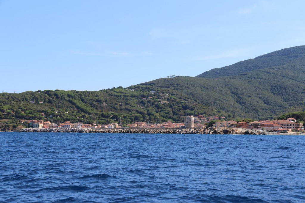 Marciana Marina, a popular anchorage for sailors travelling along the north coast of Elba