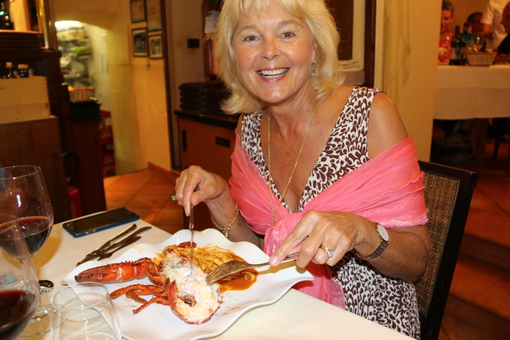 I was certainly pleased with my choice of the daily special of fresh lobster with pasta