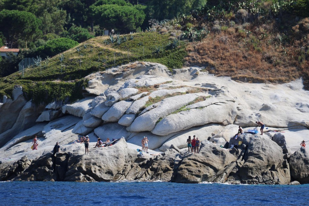 Fishing from the unusual white rocks seems to be great pastime for the locals of Sant'Andrea
