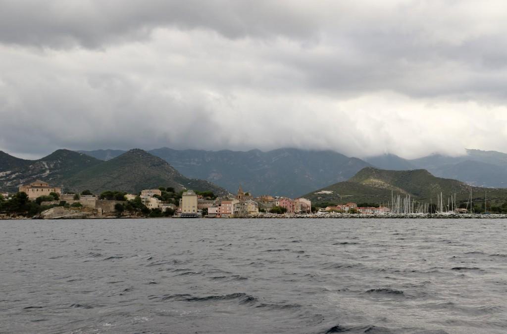The port of Saint Florent, our destination becomes clearer