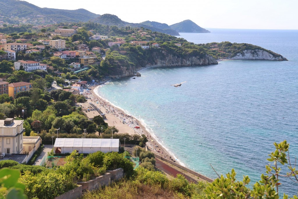 Looking west along the north coast of Elba