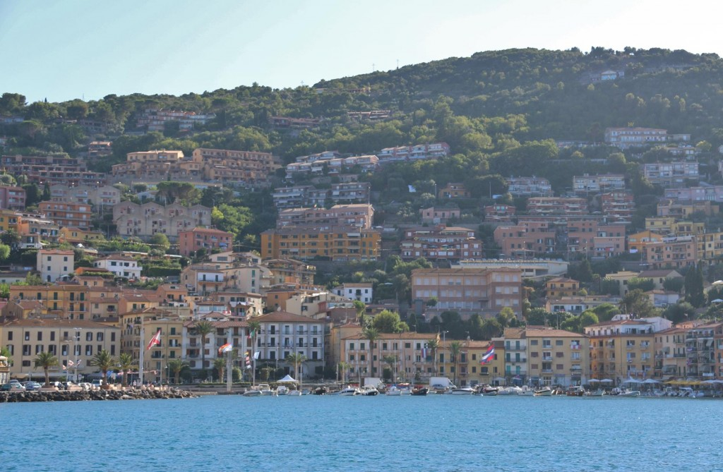 Many of the tall buildings around Porto Vecchio the northern bay, were rebuilt after the 2nd world war