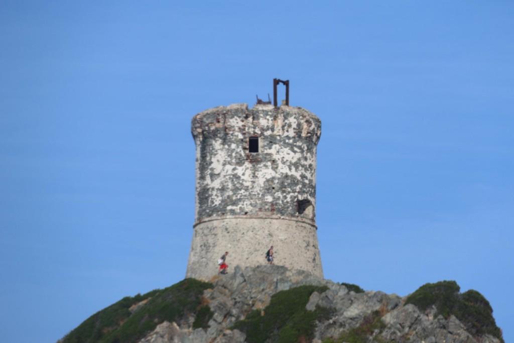 The ancient tower on Punta de la Parata