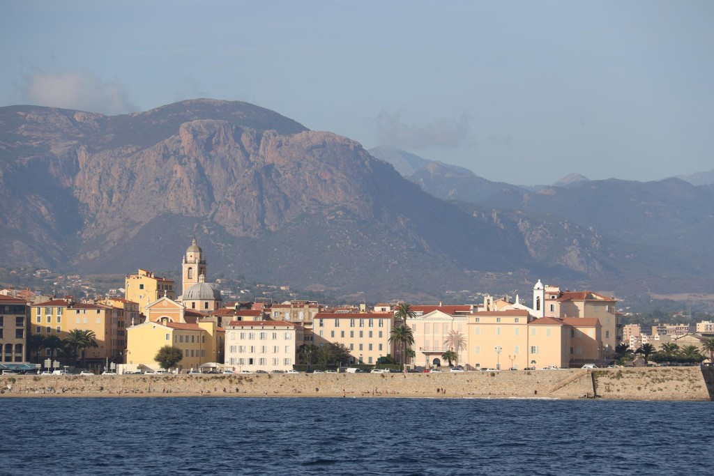 Finally after a long trip down the coast from Calvi we arrive in the port of Ajaccio