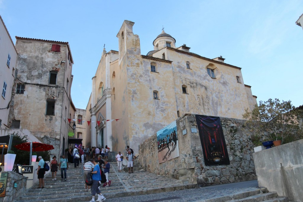 The Calvi Cathedral in the Citadel is a national monument in Corsica