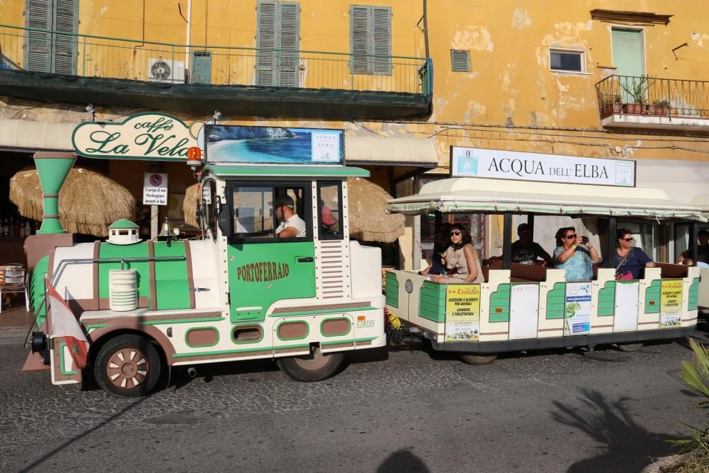 A popular mode of transport for tourists visiting Portoferriao