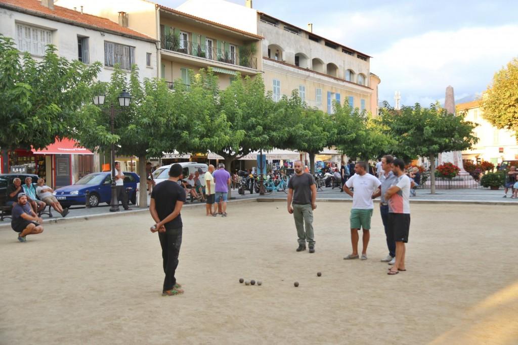 Petanque is popular here