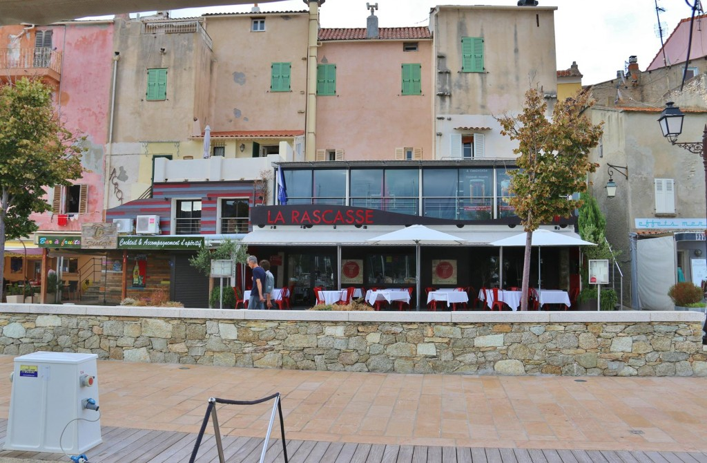 We haven't a long way to go to our restaurant, La Rascasse which is directly behind the boat
