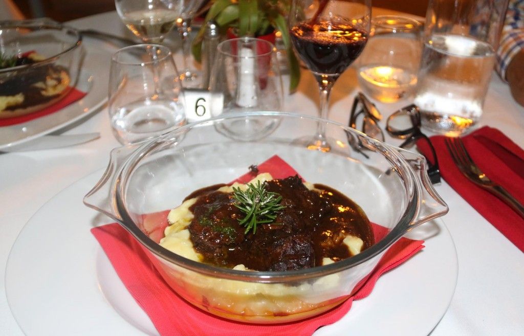 We all ordered the beef cheeks on mashed potato which was superb