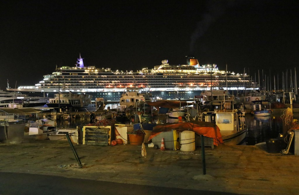 We arrive back at the marina after dinner and was surprised to see a huge ship had arrived in our absence