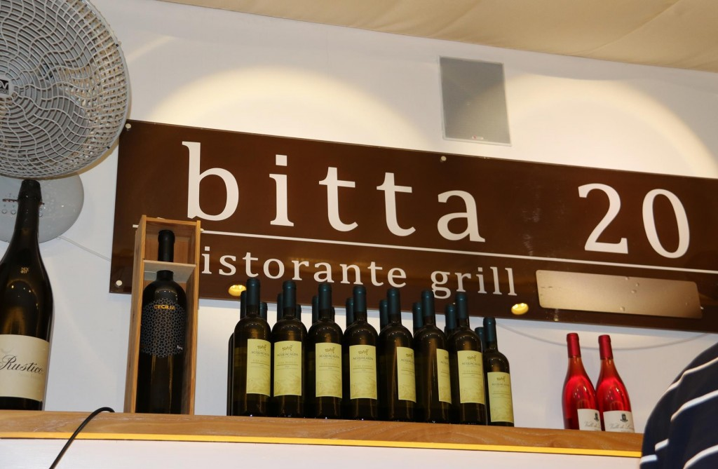 Tonight we dine at Bitta 20 which is only metres from where the Tangaroa is berthed in Portoferriao