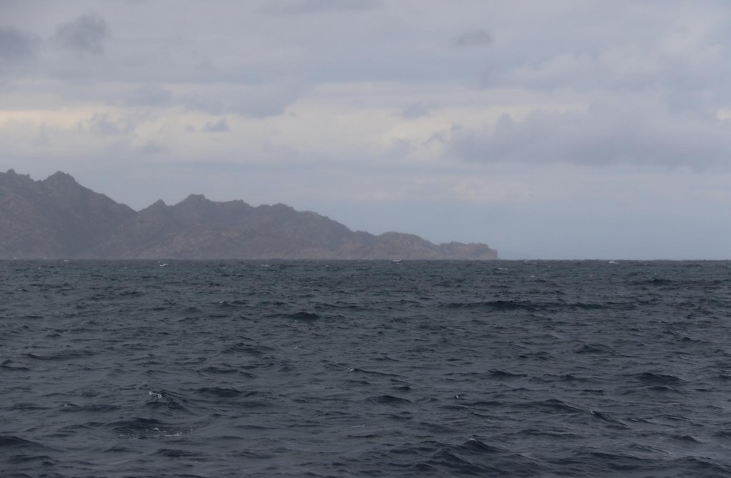 Looking back to Caprera Island