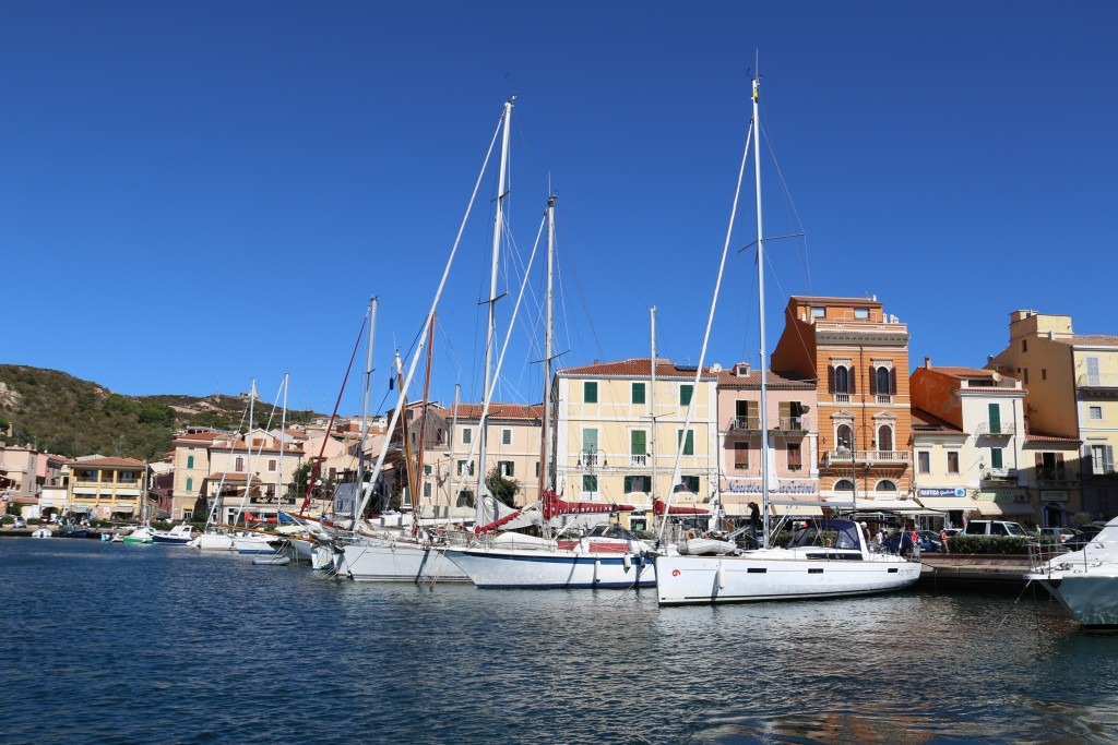 After replenishing our supplies we also depart La Maddalena Port