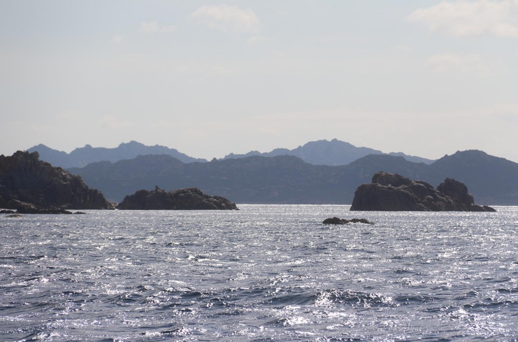 We continue around the west coast of the small island of Budelli